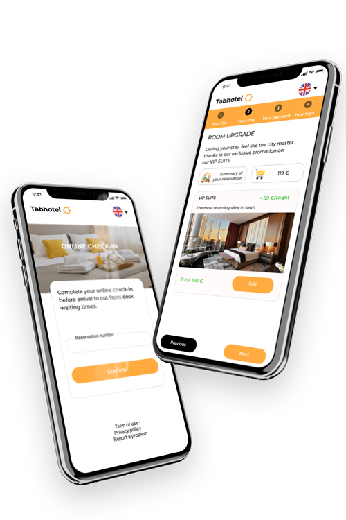 Online check-in hotel mobile