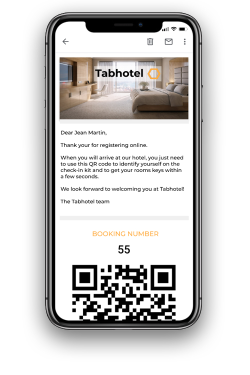 Hotel key delivery contactless